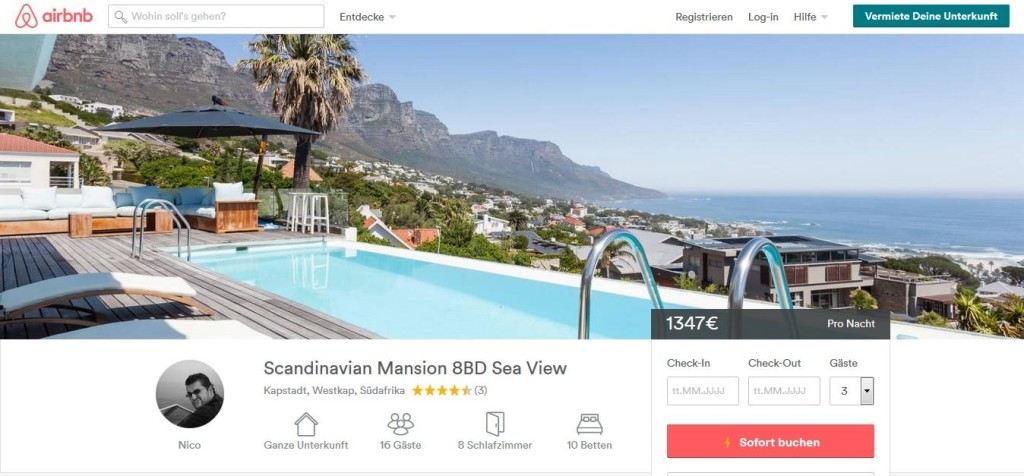 Cape Town Airbnb Mansion