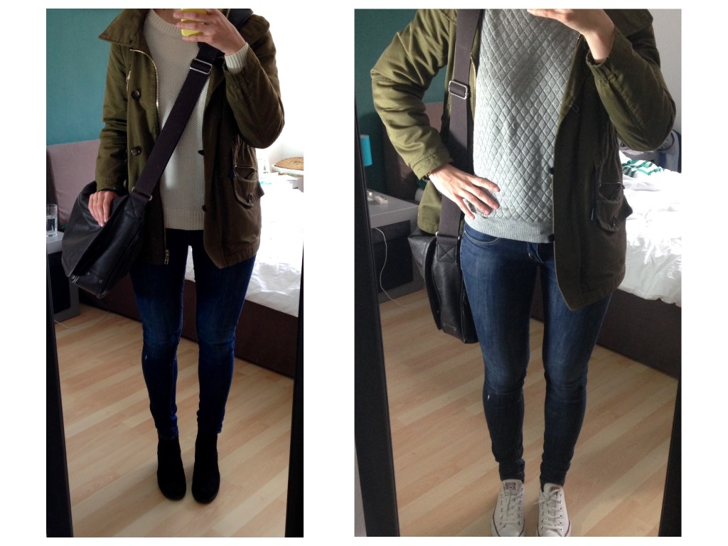Pullover and Parka Outfit