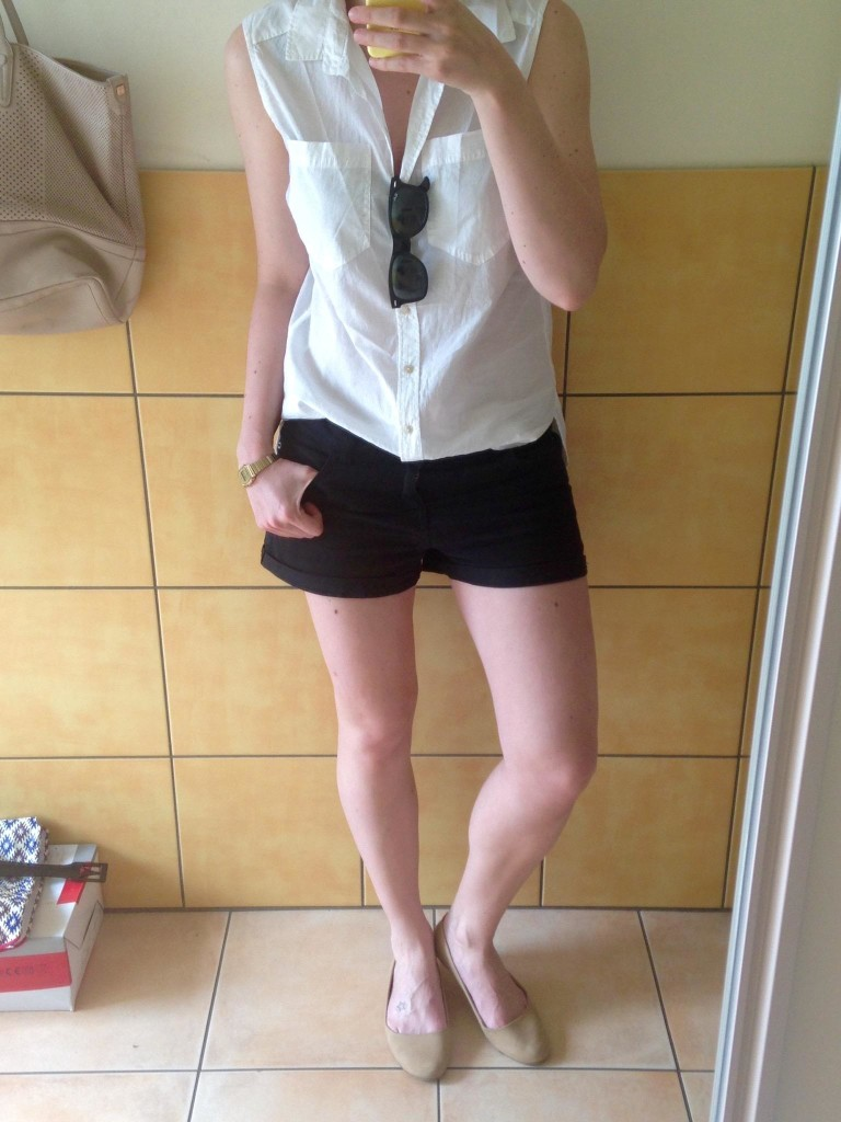 Ärmellose Bluse Short Outfit