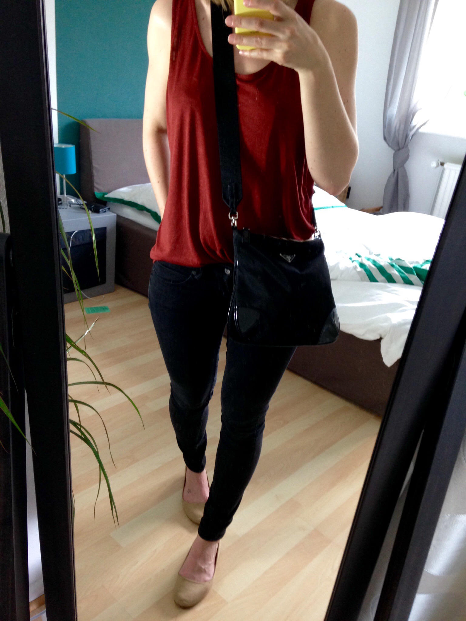 Marsala Shirt Outfit - Summer Capsule Outfit