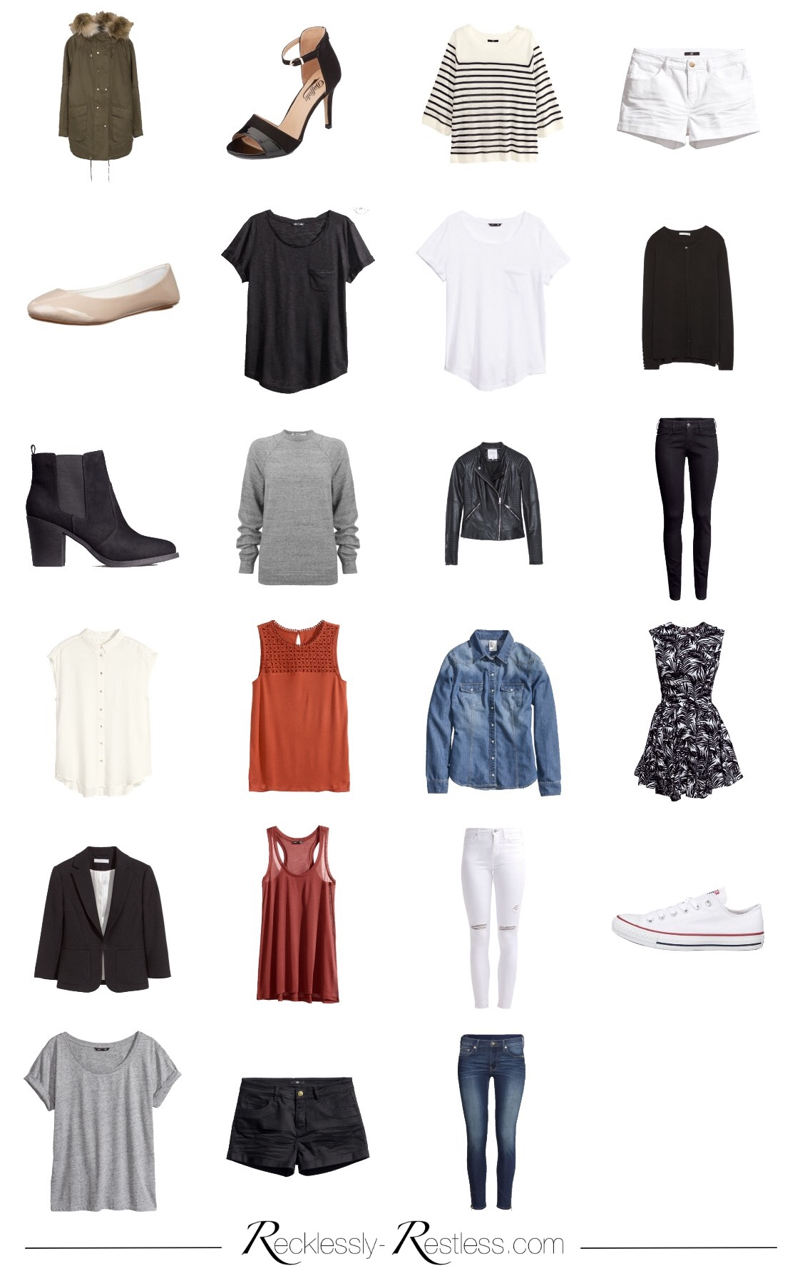 Capsule wardrobes archive recklessly for Minimalismus klamotten