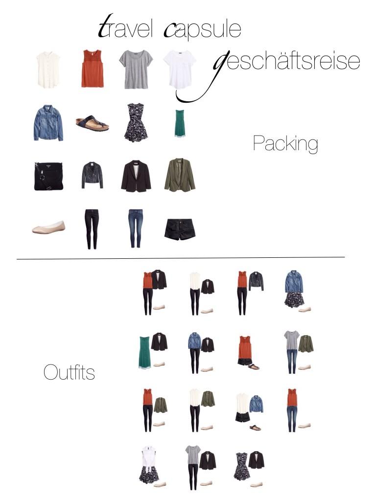Geschäftsreise Handgepäck Outfit