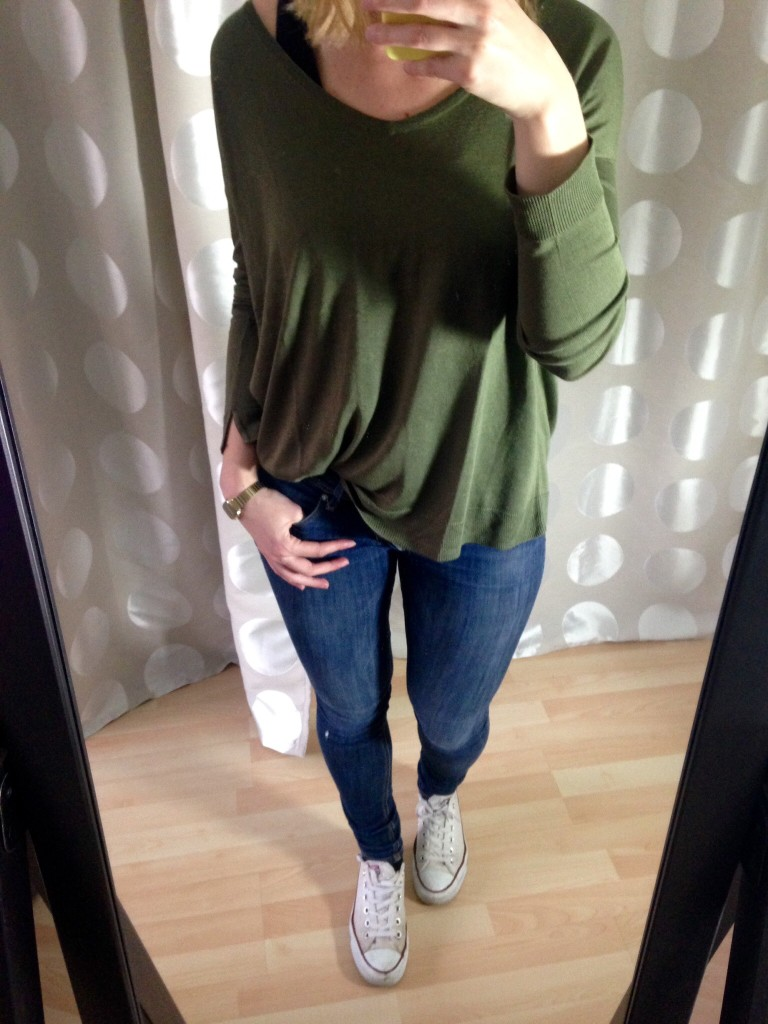 Khaki Sweater Outfit - Herbst Capsule
