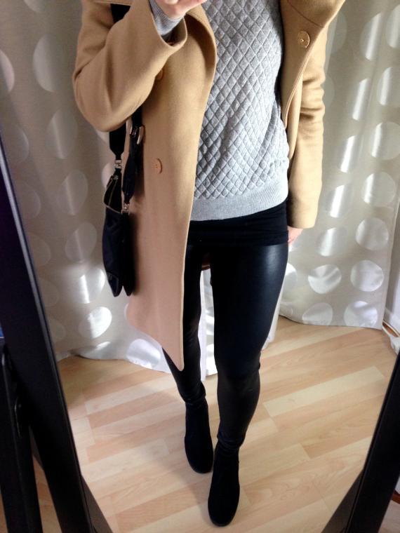 Leder Leggings kombinieren - Herbst Outfit