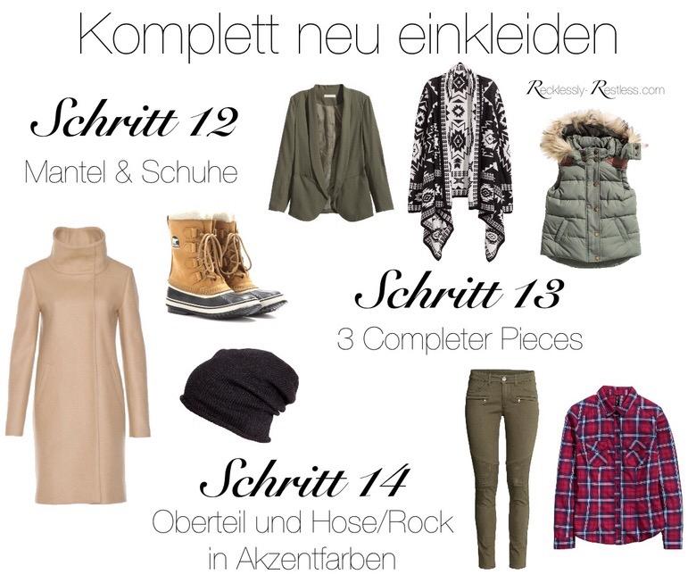 Garderobe erneuern mit der Capsule Wardrobe - Schritt 13 bis 14