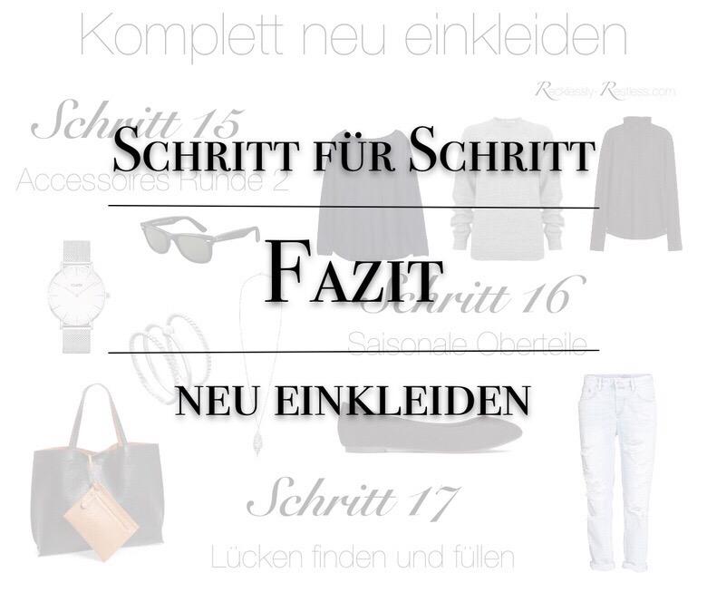 Minimalistische Garderobe - Fazit