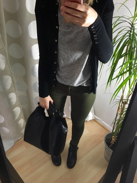 Oliv farbene Hose - Winter Capsule Outfit