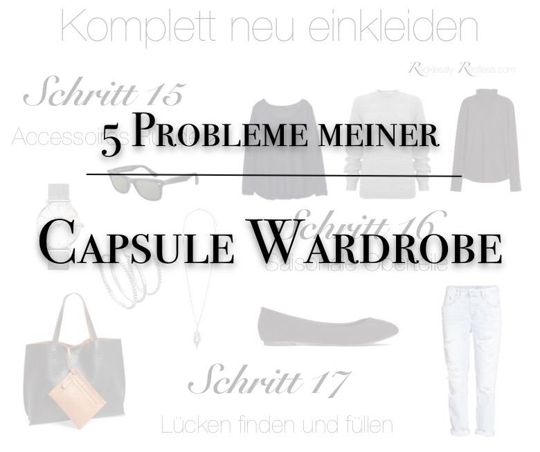 Ein kleines ehrliches Fazit nach einem Jahr Capsule Wardrobe - 5 Probleme die ich mit der Capsule Wardrobe habe