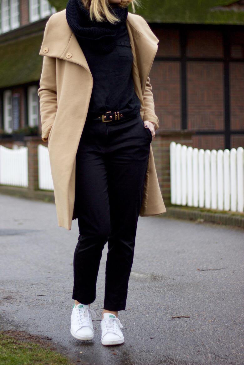 Slacks, Anzughosen kombinieren - slacks all black outfit
