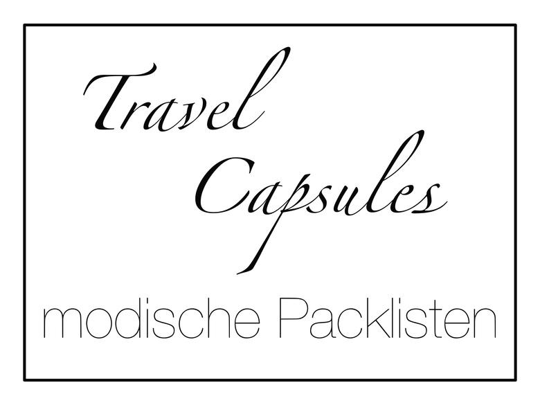 Modische Packlisten Handgepäck