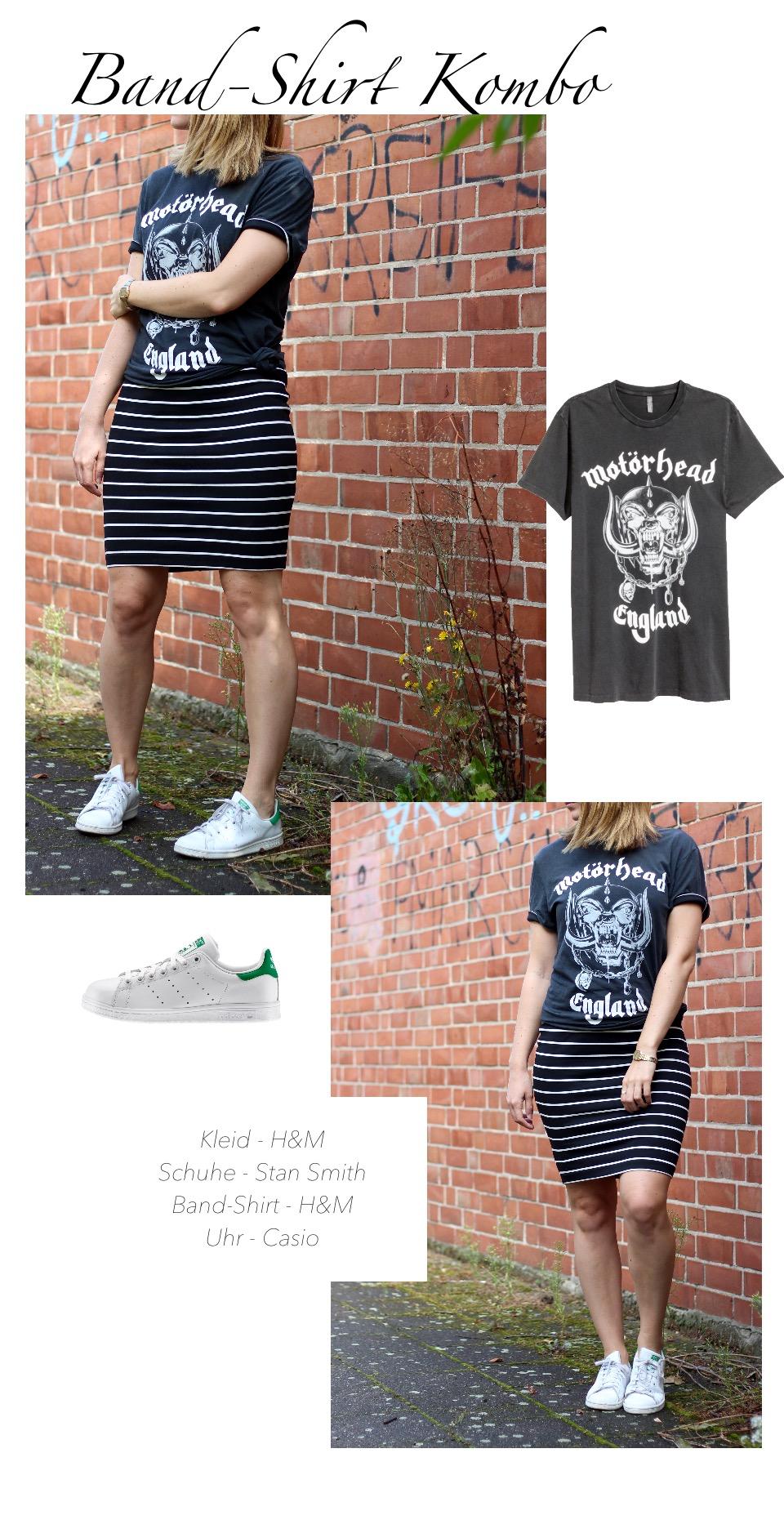 Midikleid und T-Shirt