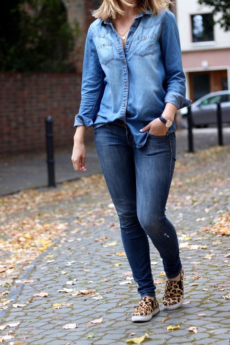 Denim on Denim Herbst Outfit