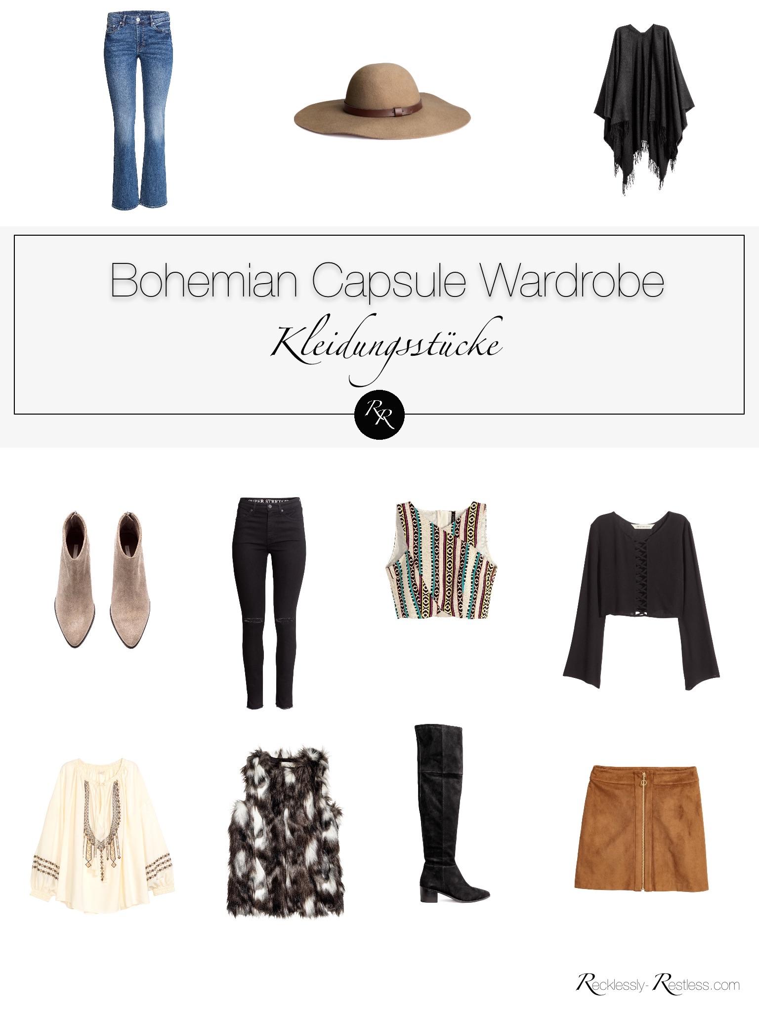 Wie der Boho Style funktioniert- Eine Capsule Wardrobe im Boho Stil