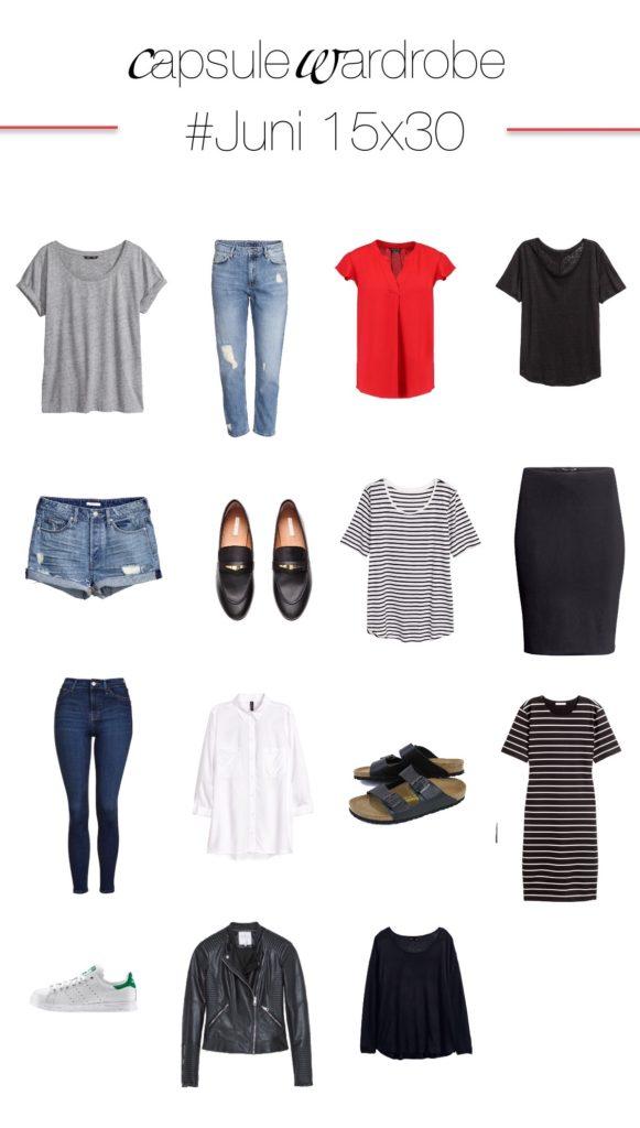 Juni 15x30 Challenge - 30 Tage mit 15 Kleidungsstücken