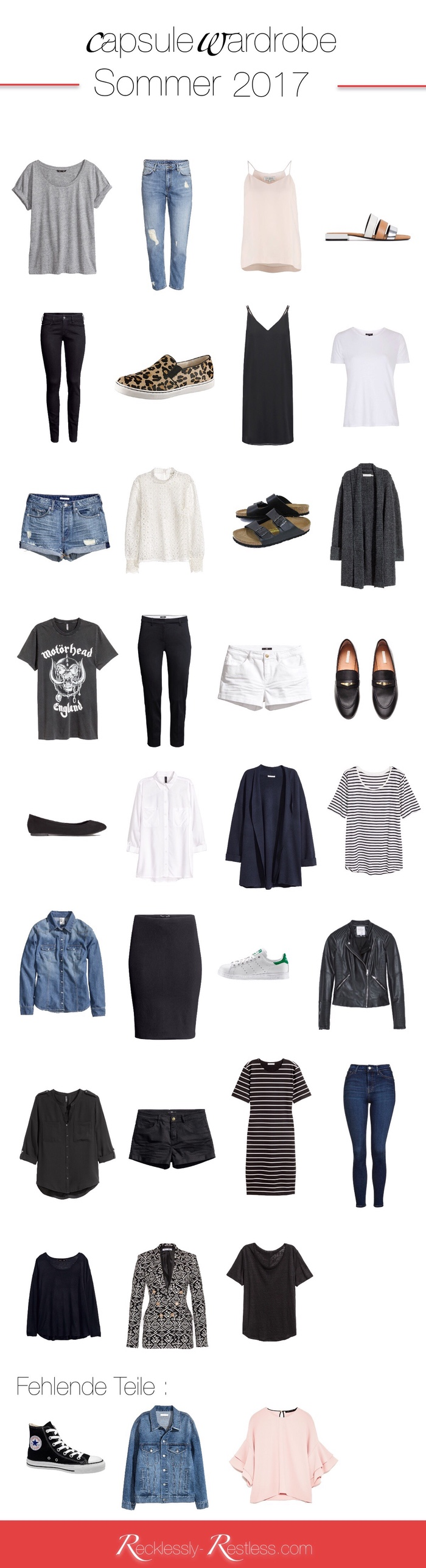 Summer Capsule Wardrobe 2017 - Sommer Capsule Wardrobe 2017