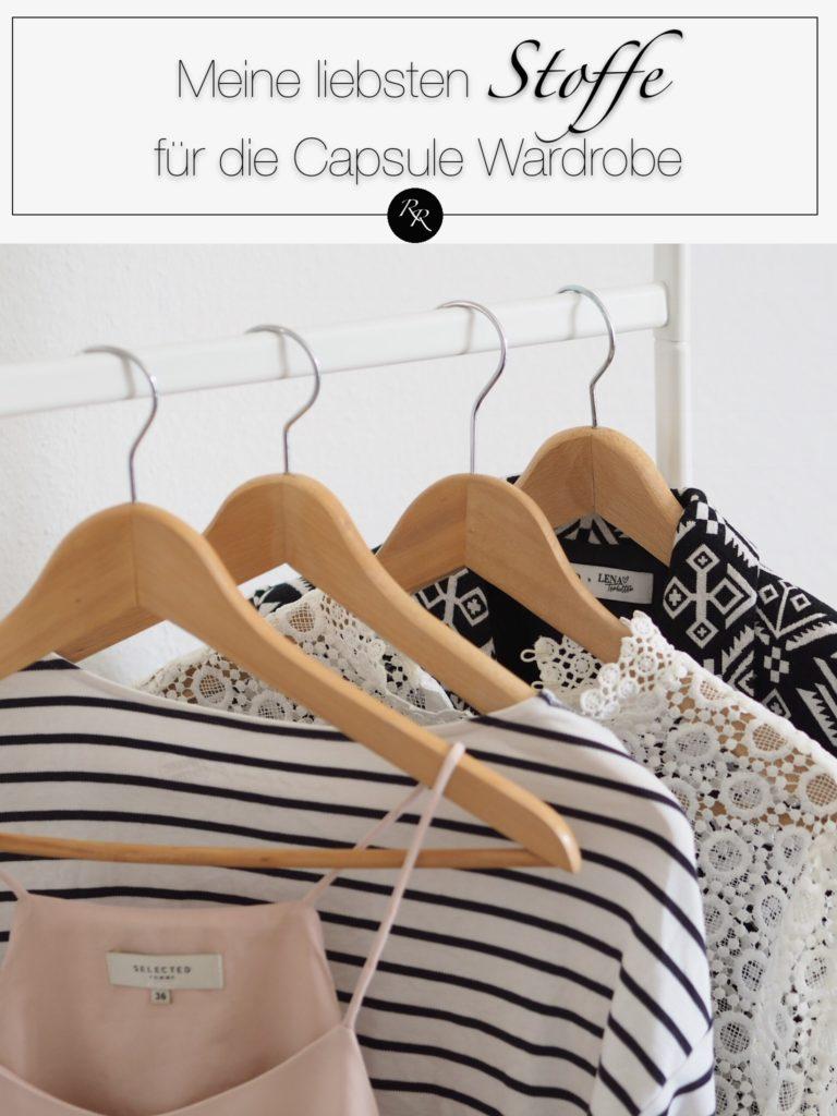 die besten Stoffe Capsule wardrobe - Stoffe für eine zeitlose Garderobe