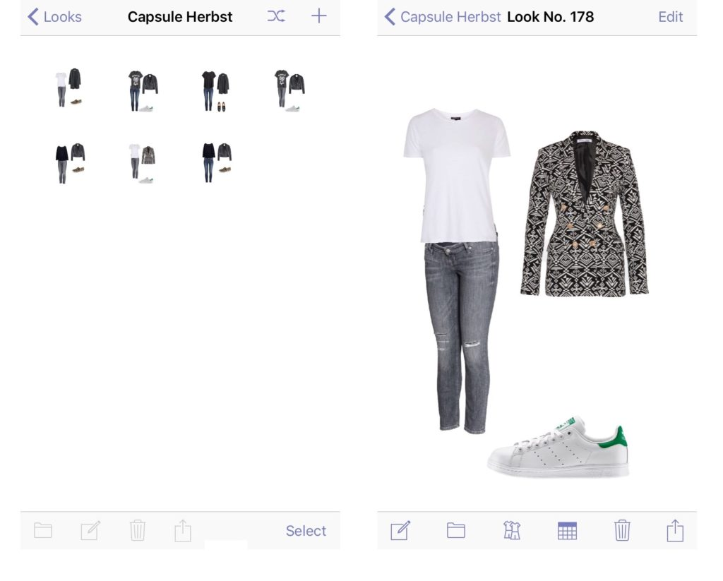 App Outfits zusammenstellen