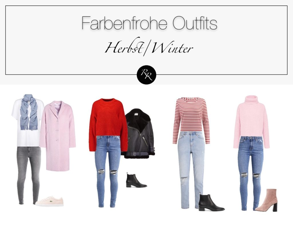 farbenfrohe Outfits Winter