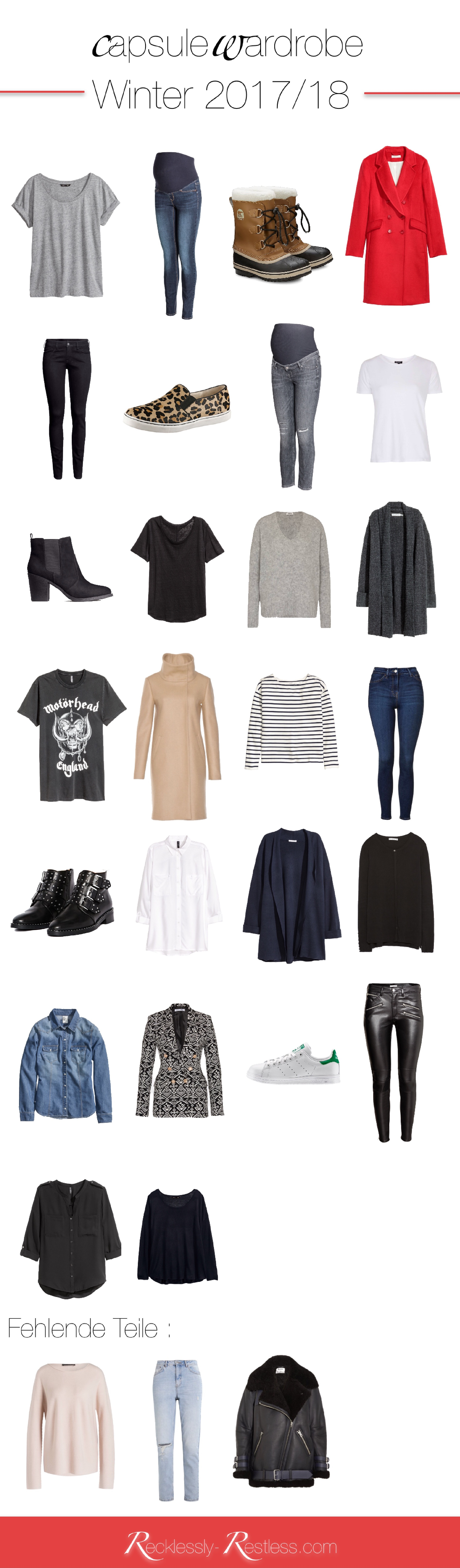 2018 Winter Capsule Wardrobe Beispiel