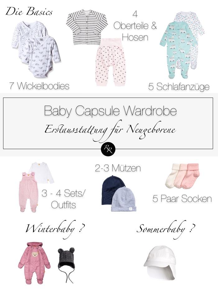 Baby Erstausstattung Kleidung Liste - Baby Capsule Wardrobe