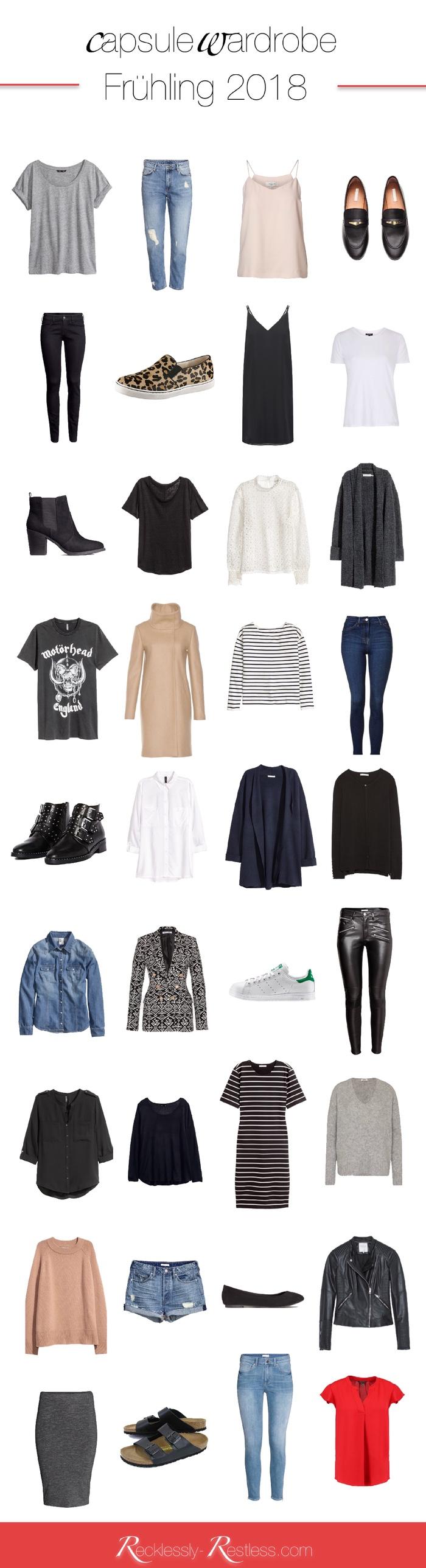 capsule wardrobe Früling 2018
